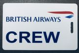 BRITISH AIRWAYS - plain crewtag (landscape)